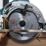電動丸ノコの使い方~「切り込みの深さと傾斜角度を調整する(詳細写真つき)」