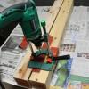 タイニーハウスの鉄骨土台作り 第3話~ジョイント金具の穴あけを続ける
