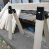 ソーホースブラケットとツーバイ材を使った馬(作業台)の作り方~手順と必要な材料